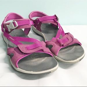 Merrell women's deep purple and gray sandals 11